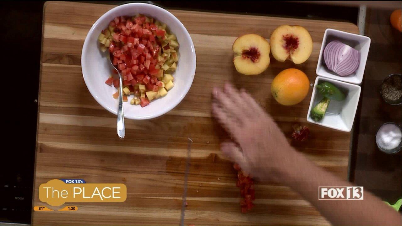 Cherry Tomato Salsa and Habanero Mangosalsa