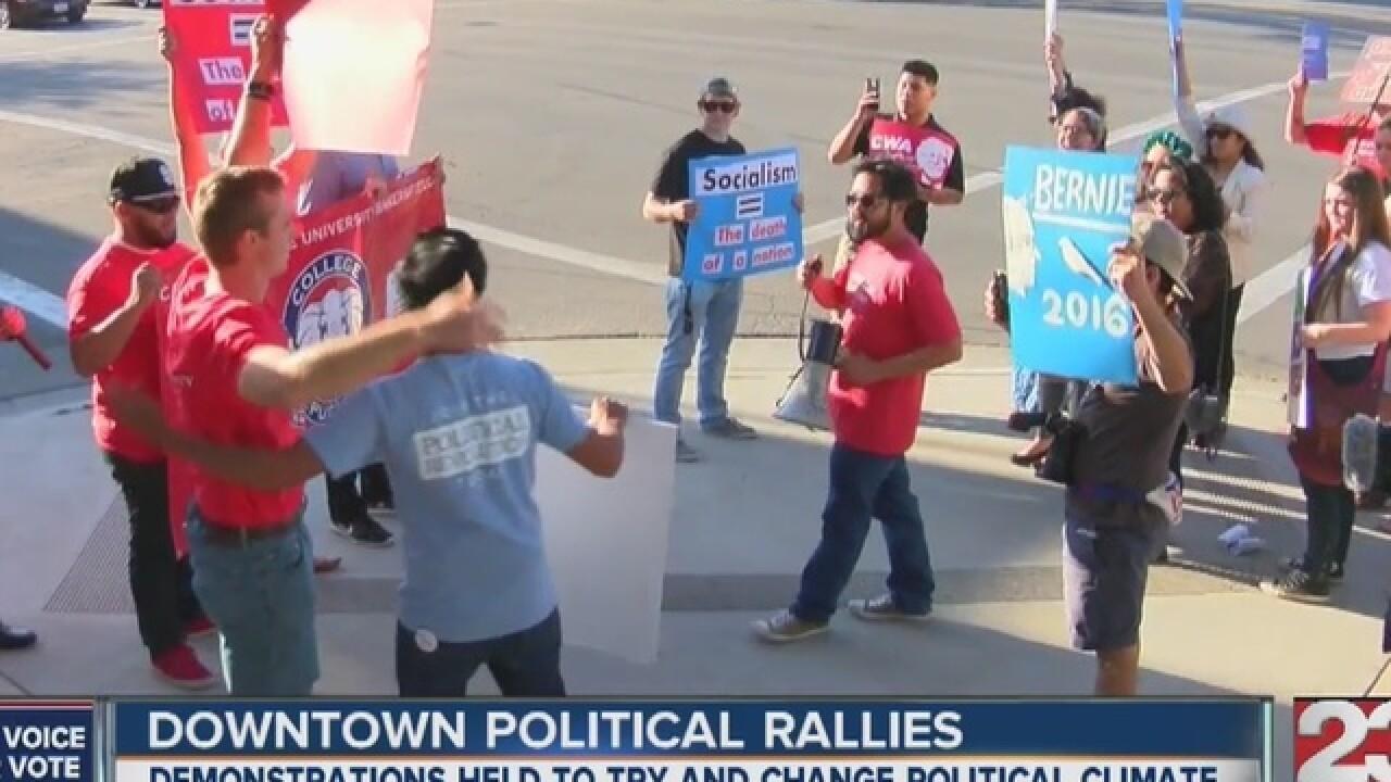Political parties host peaceful rallies