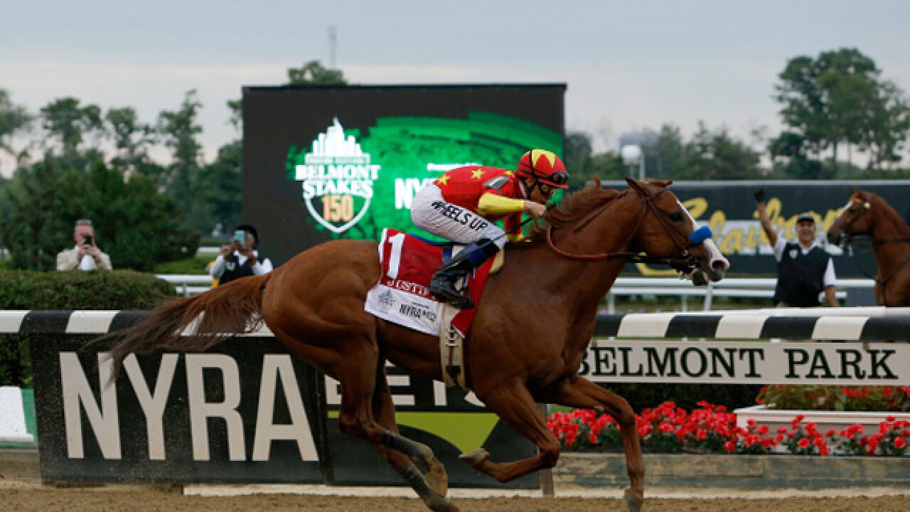 Justify takes the triple crown with Belmont Stakes win