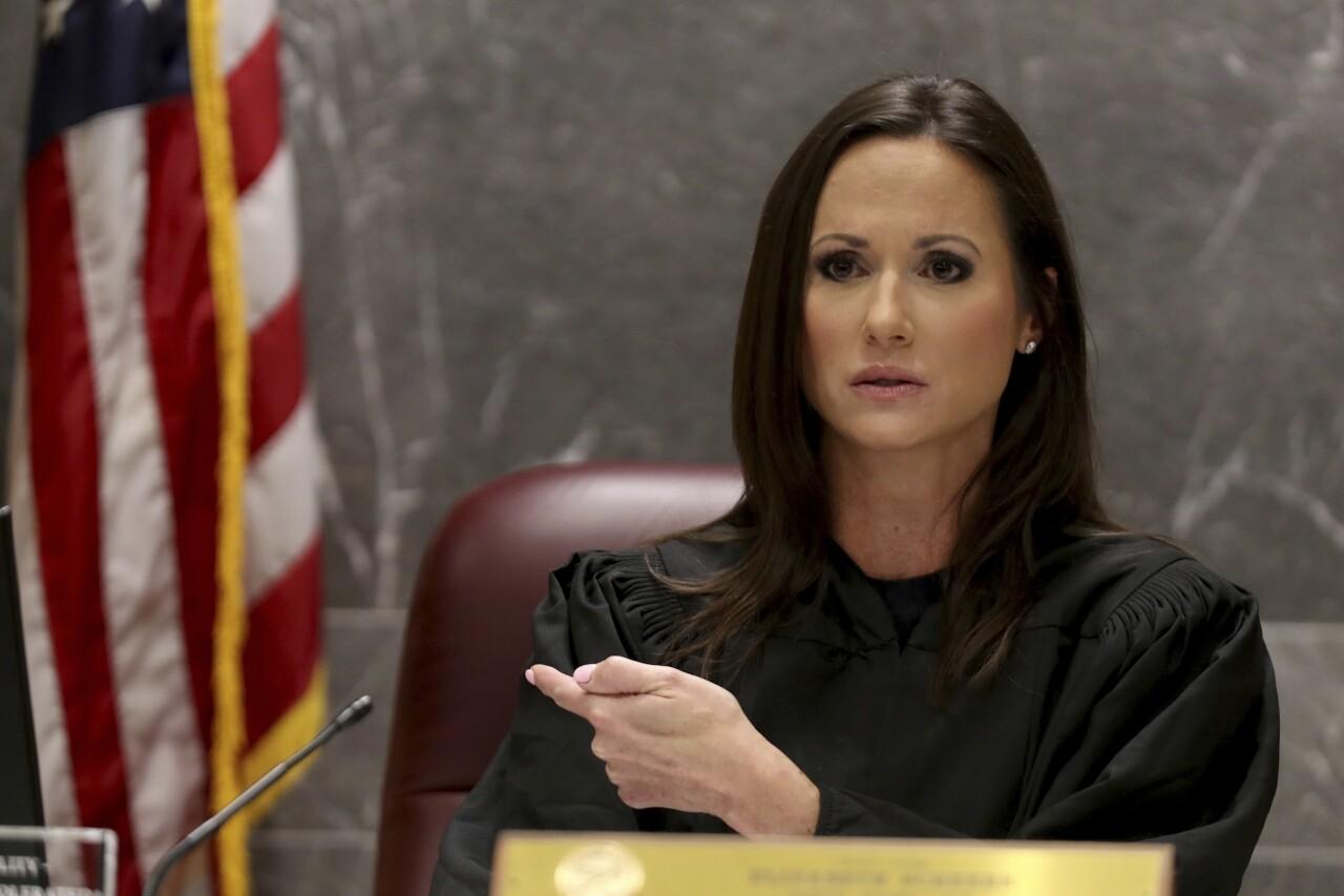 Judge Elizabeth Scherer speaks during hearing for Nikolas Cruz, July 13, 2021