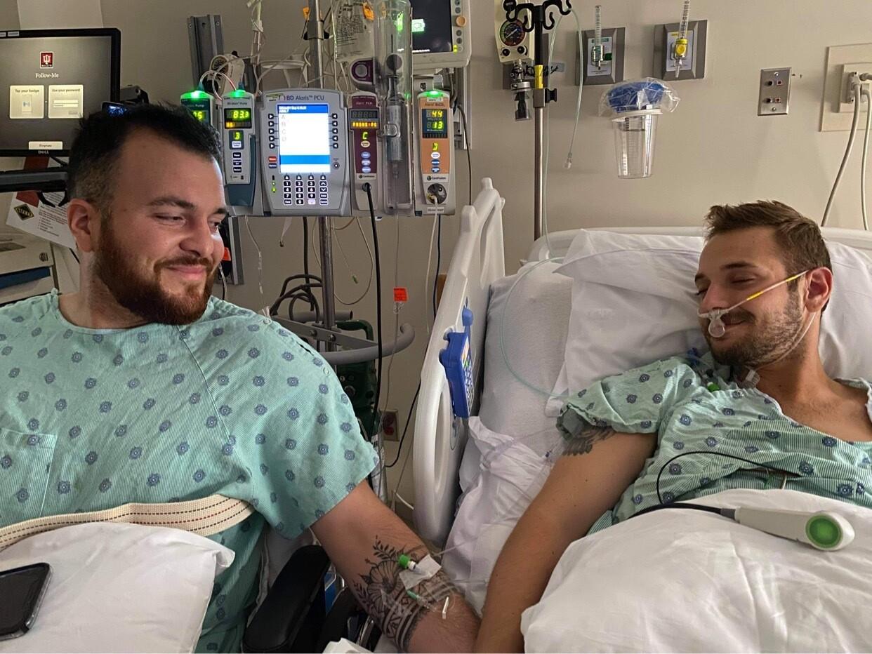 Rafael Díaz and Reid Alexander_post surgery