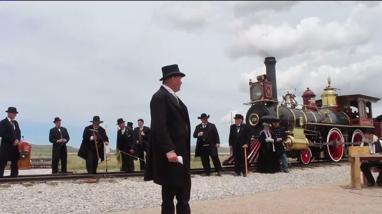 Utahns celebrate anniversary of golden spike, discuss plans to make site National HistoricalPark