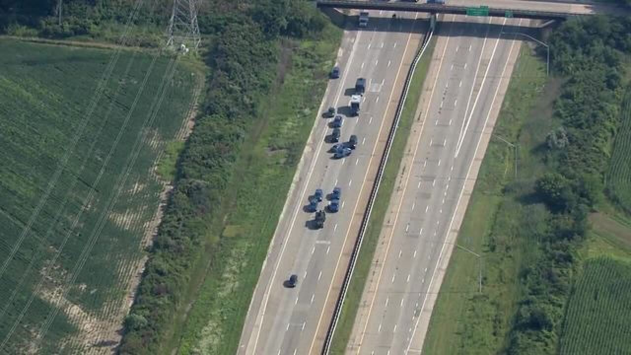 Police chase suicidal person across area