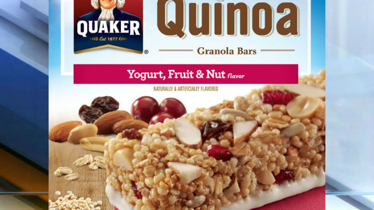 RECALL: Quaker Oats granola bar products