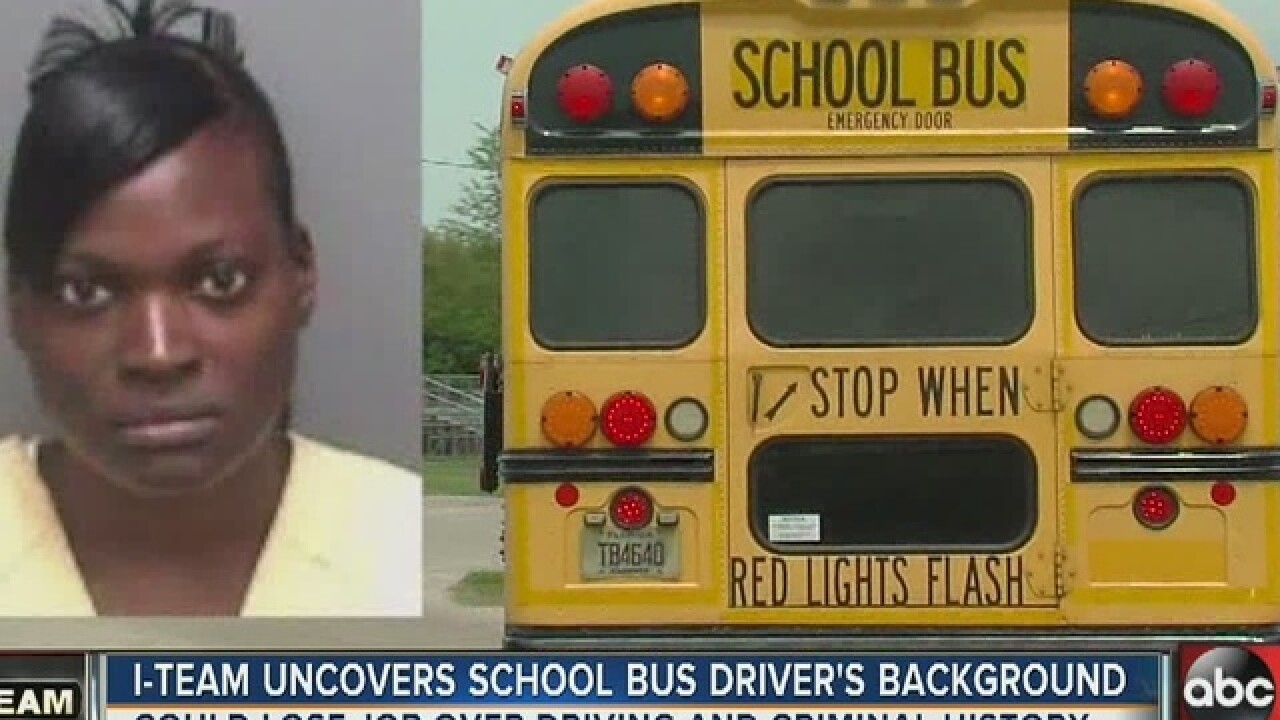 Pinellas school bus driver's job on the line