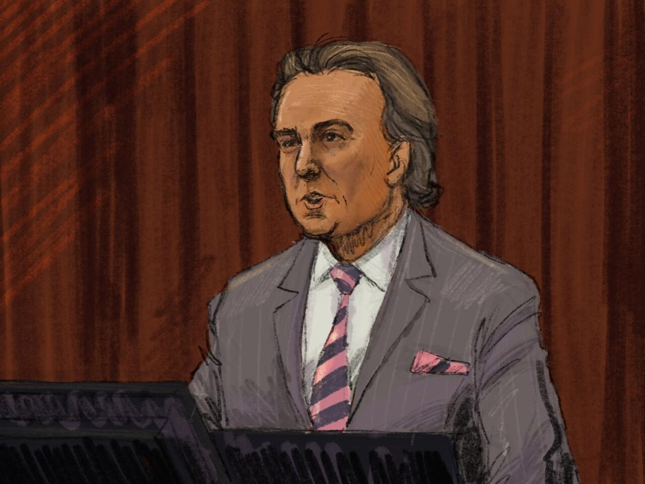 Doug Evans' attorney Ben Dusing