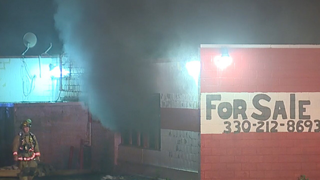Fire at former Akron bowling alley