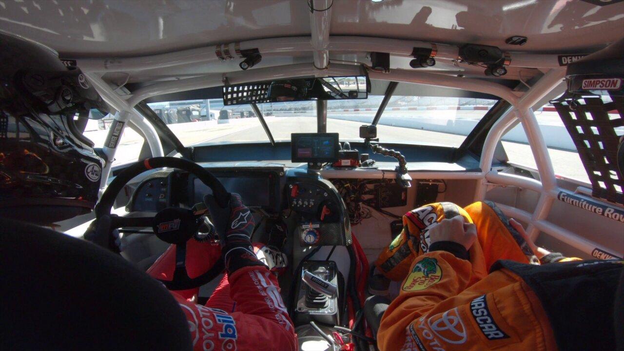 Para-athletes get a chance behind the wheel atNASCAR