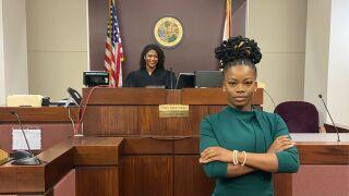 Marie Rattigan at her internship with Judge Tiffany Baker-Carper