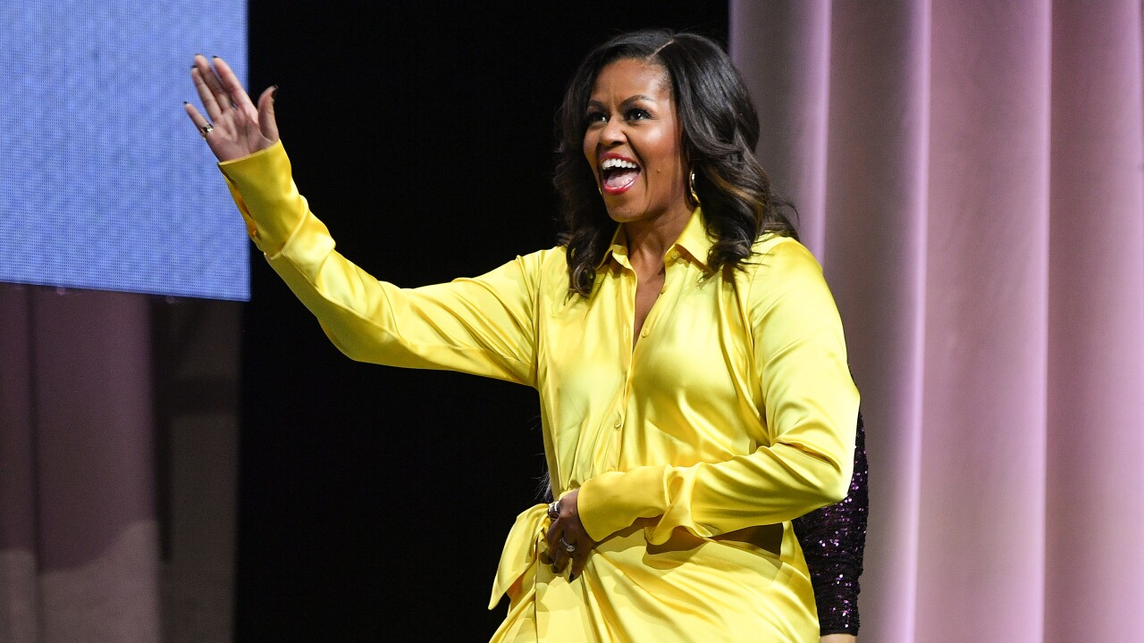 Michelle Obama bests Hillary Clinton to be voted most admired woman by Americans, poll shows