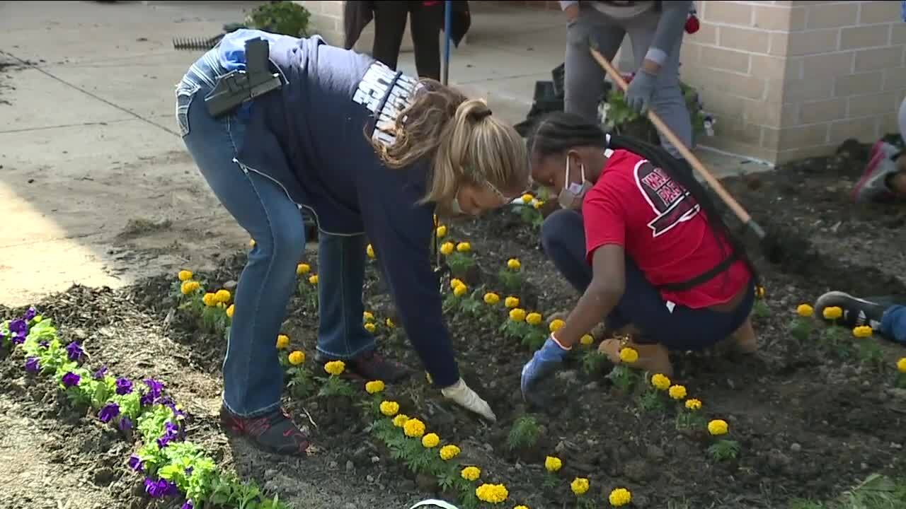 Wade Park beautification day