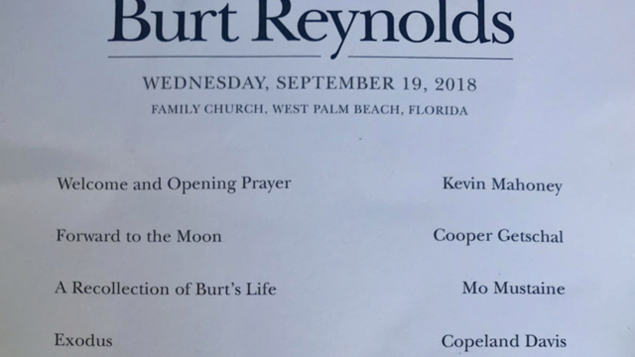 Burt Reynolds remembered at funeral in West Palm Beach