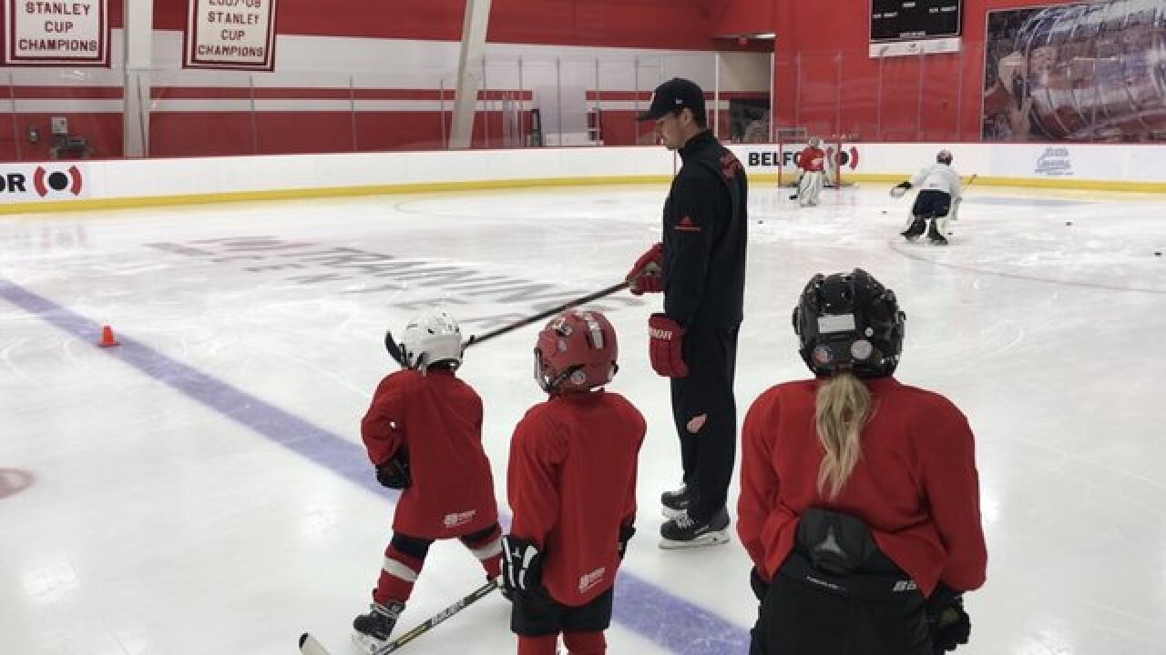 Red Wings youth campers have dreams come true, skating with Dylan Larkin