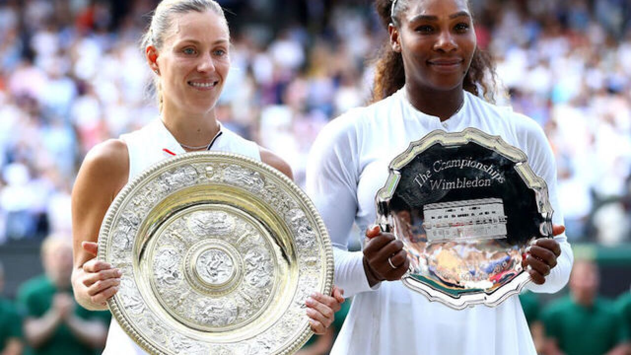 Kerber easily beats record-chasing Williams to win first Wimbledon title