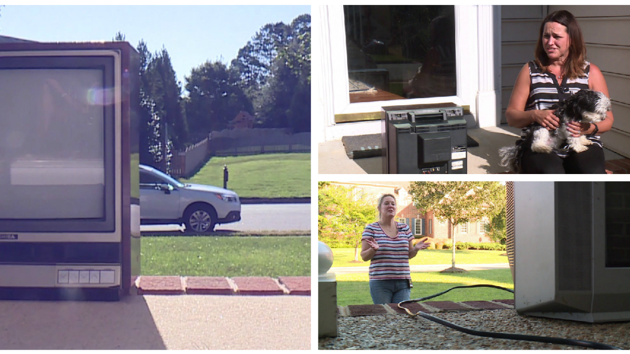 More than 20 vintage TVs left on Henrico front porches: 'It's so weird'