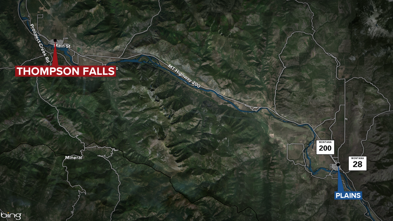Thompson Falls fatal accident map