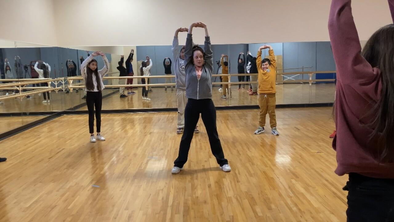 Dance classroom in Utterback Middle School