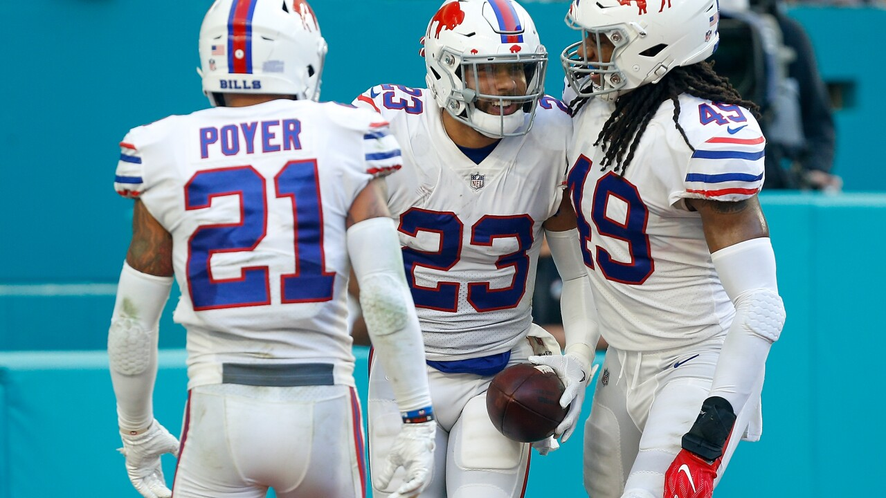 Jordan Poyer Micah Hyde Bills Dolphins 2018