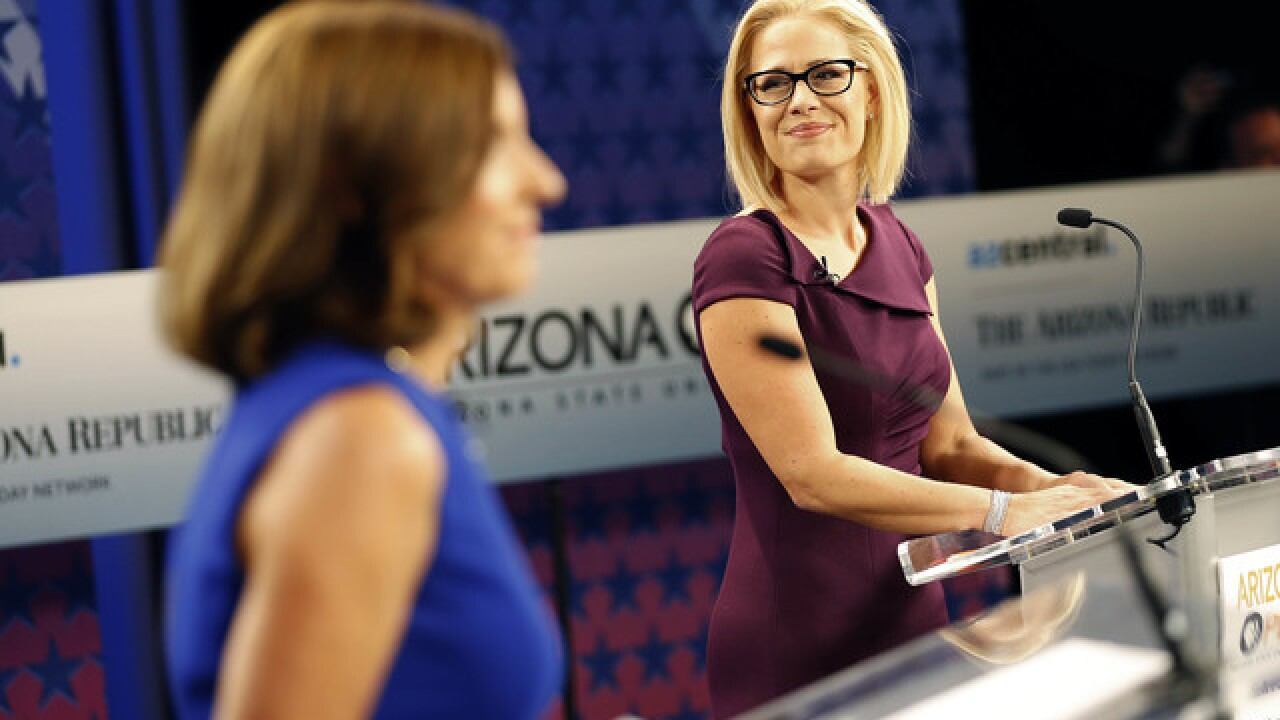 Sinema continues to inch ahead in slow Arizona vote count