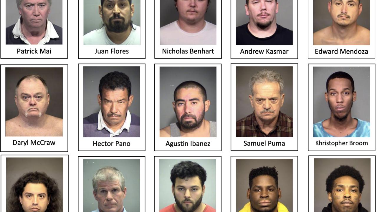 Operation Silent Predator arrests