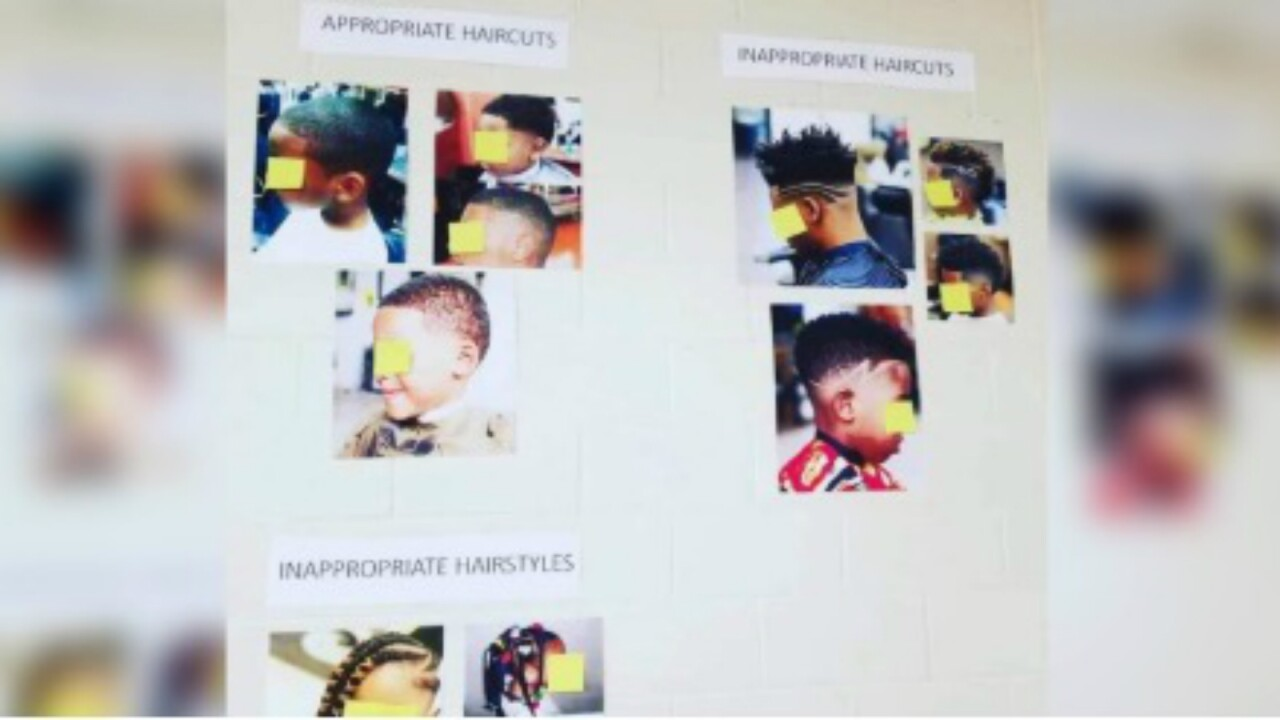 Georgia elementary school criticized over poster dictating hairstyles for black students