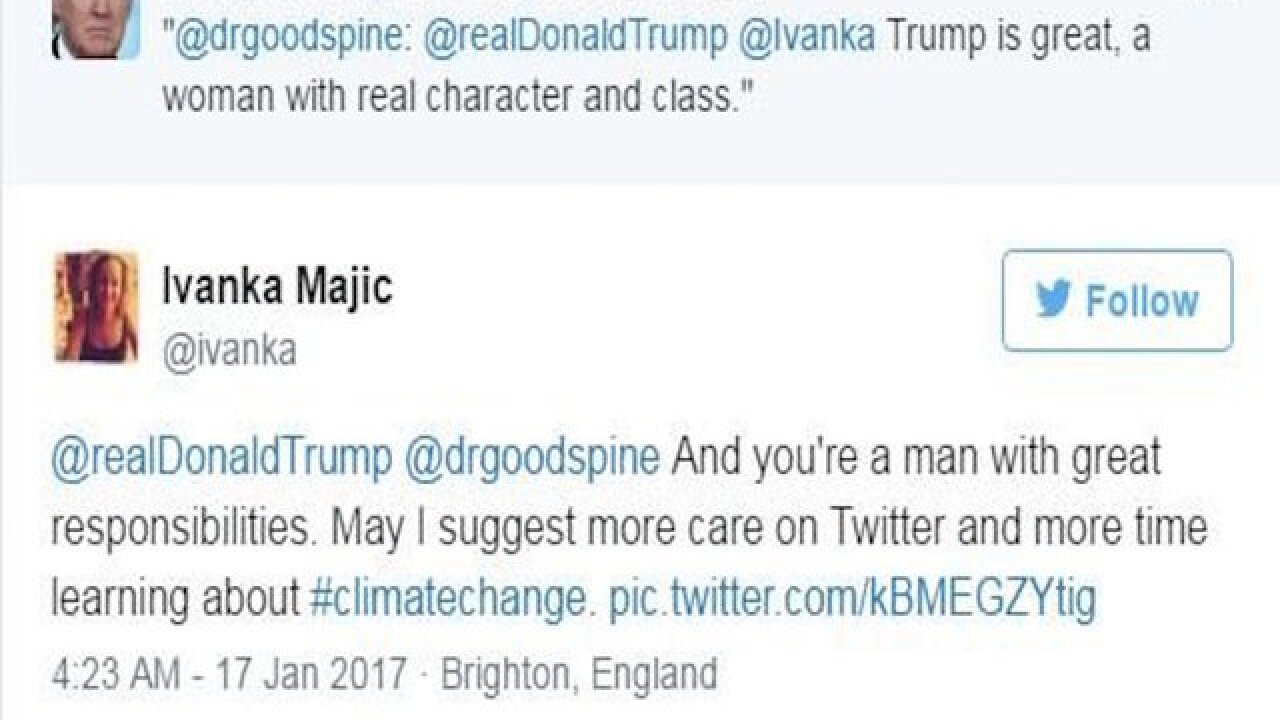 Donald Trump retweets wrong Ivanka — and she hits back