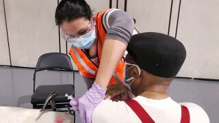 ODU nursing students help Sentara administer COVID-19 vaccines