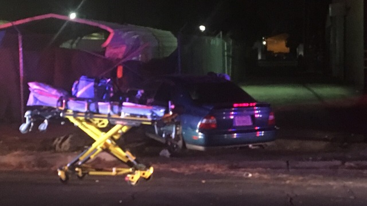 Possible DUI crash in Central Bakersfield