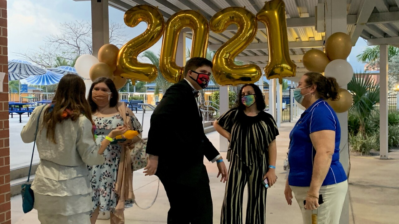 At Martin County High School, a semi-formal was held outside for the class of 2021 on Saturday.