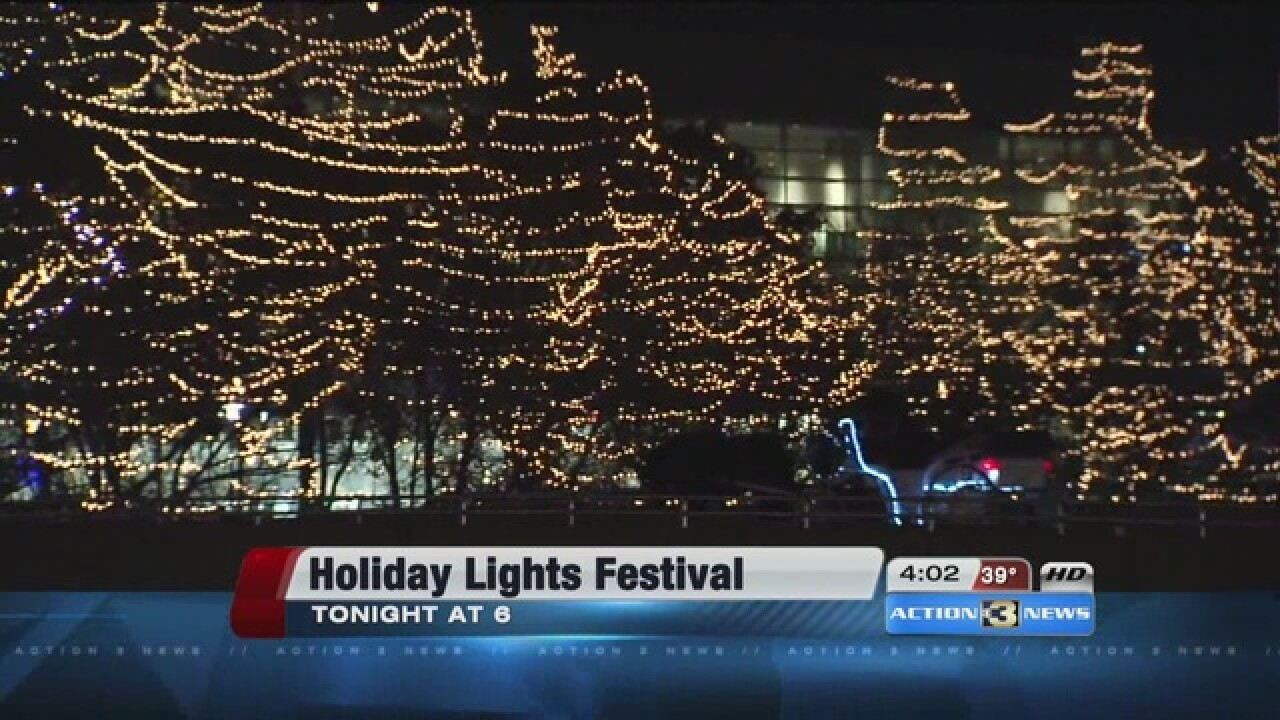Christmas Lights Omaha.Watch Live Holiday Lights Festival Ceremony In Downtown Omaha