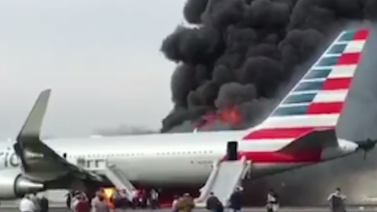 Two planes burst into flames within hours of each other