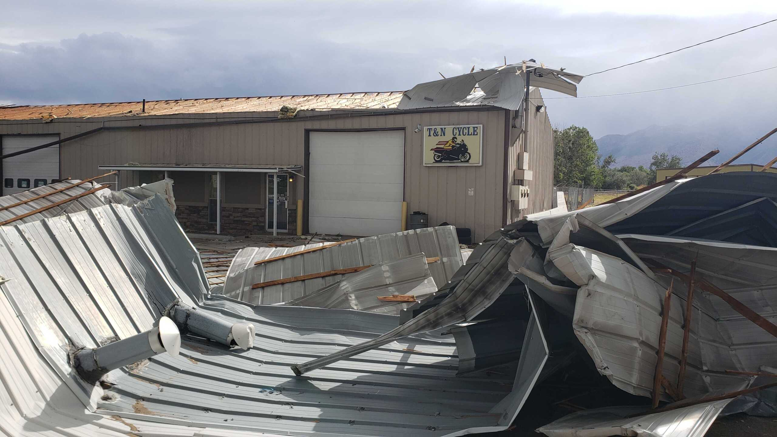 Roof ripped off T and N Cycle in Ogden.jpg