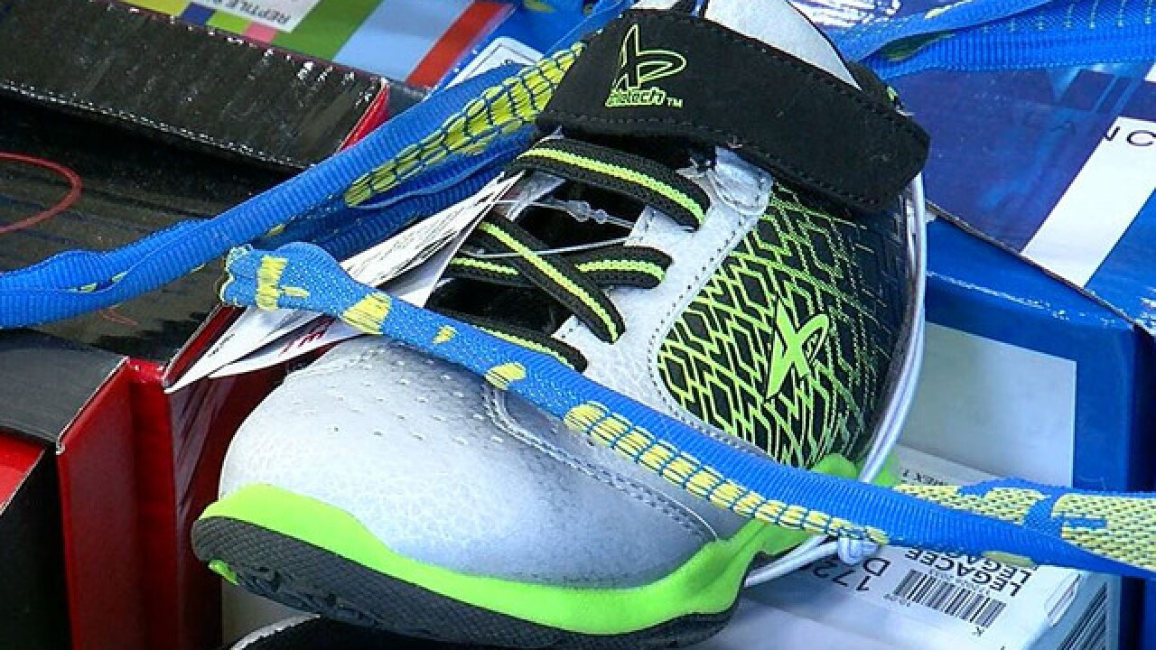 Local charity provides shoes for kids in need