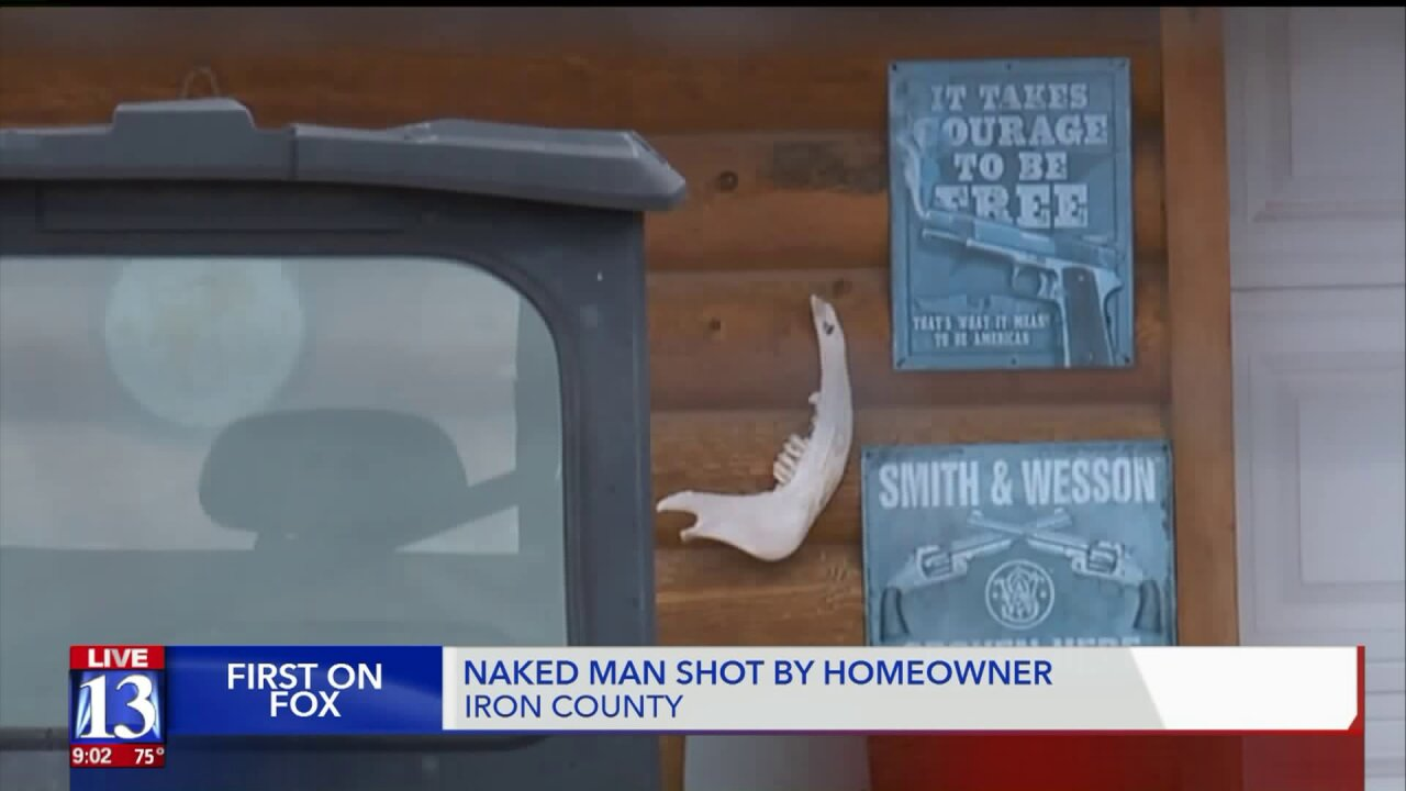 Burglar shot after breaking into Utah home with 'Smith and Wesson spoken here' signoutside