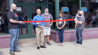 Summit Comics and Games ribbon cutting ceremony