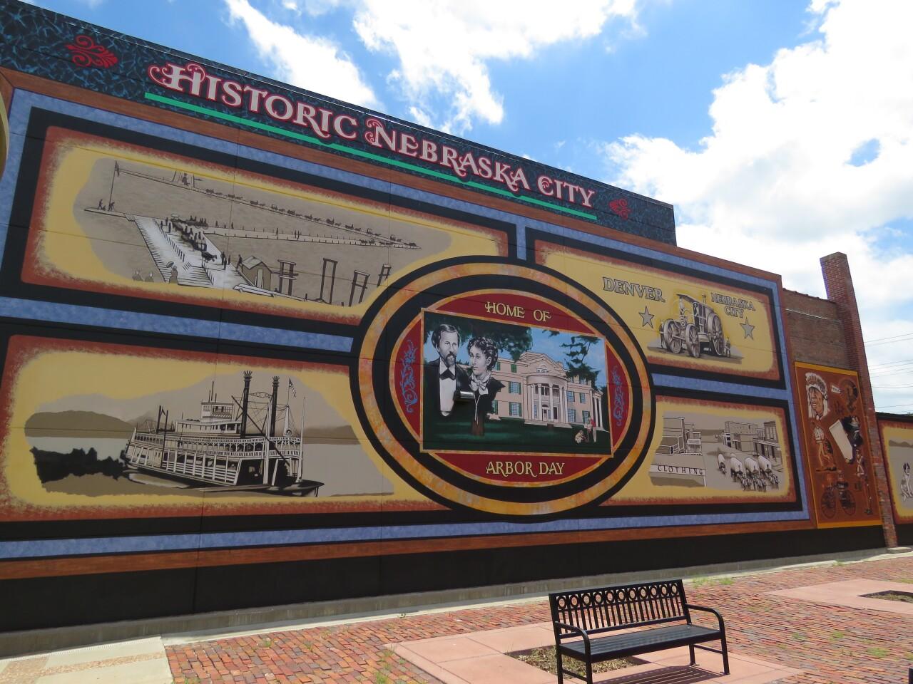 Historic mural in Nebraska City