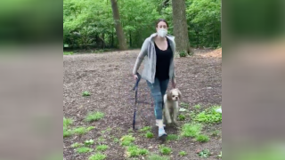 Woman seen in racially-charged video placed on leave from job, surrenders dog