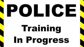 Police training in progress
