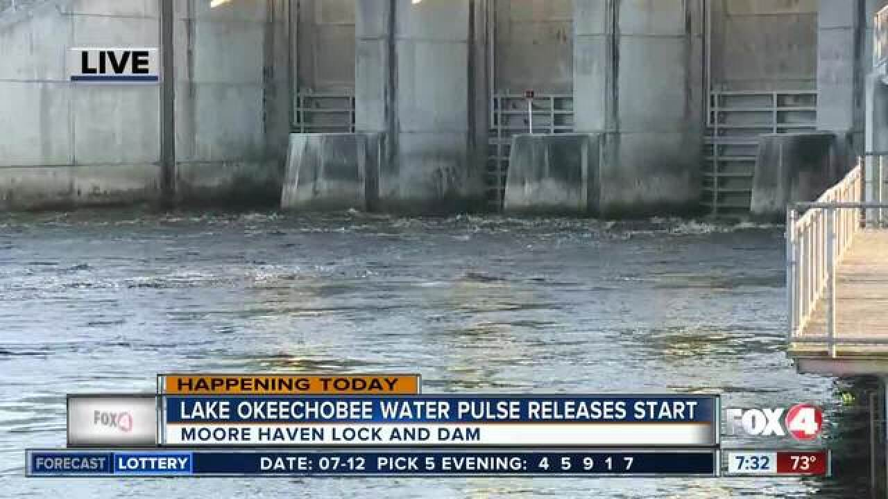 Water releases from Lake Okeechobee resuming
