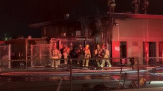 Fire breaks out at Virginia Avenue Elementary School in East Bakersfield.