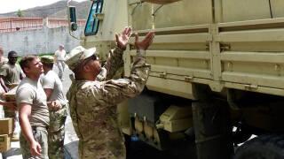 Photos: Virginia Guard Soldiers distribute food, water in U.S. VirginIslands
