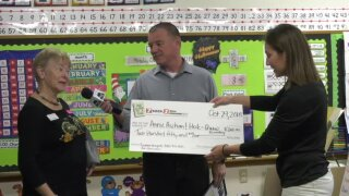 Heck/Quaw Elementary School awarded One Class At A Time check