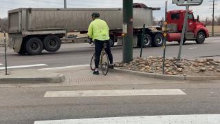 Biker on Santa Fe