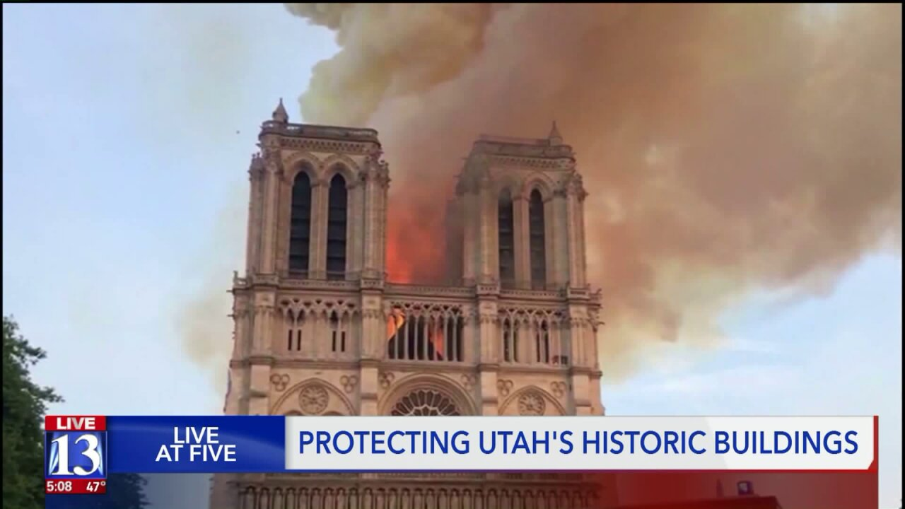 Firefighters say Utah's historic buildings are more fire-safe than Notre DameCathedral