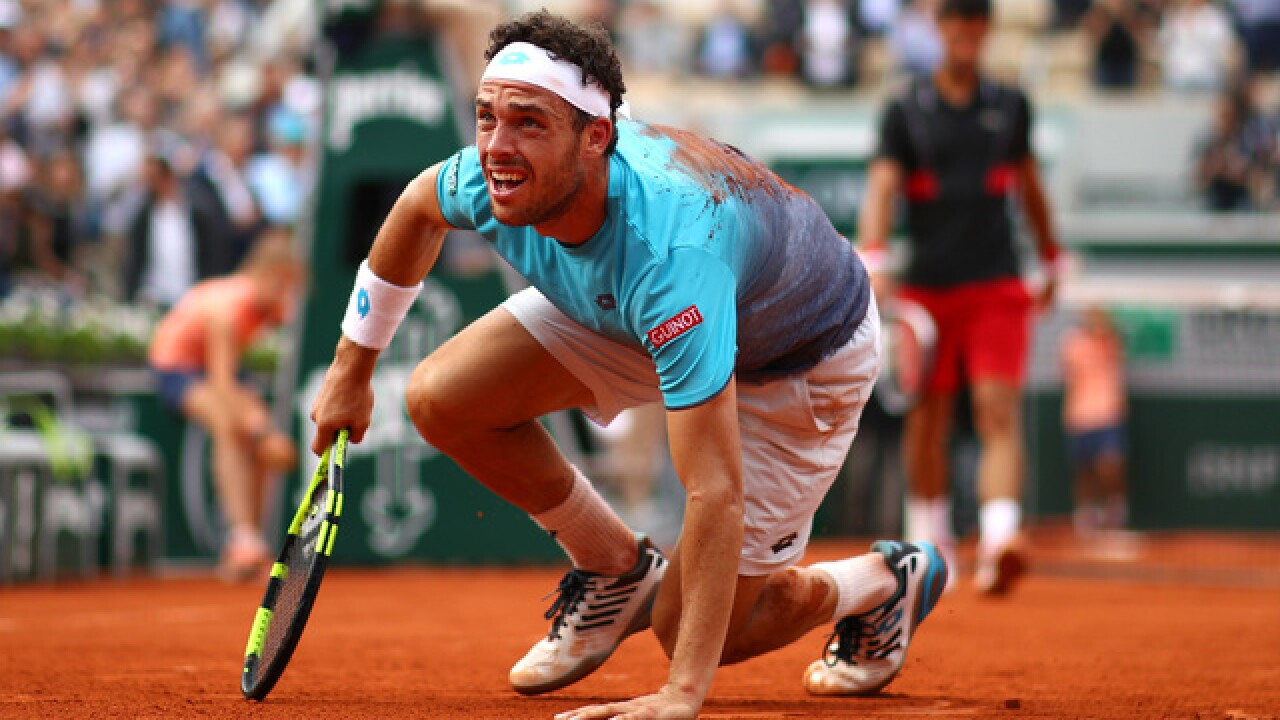 Djokovic stunned by 72nd-ranked Cecchinato at French Open