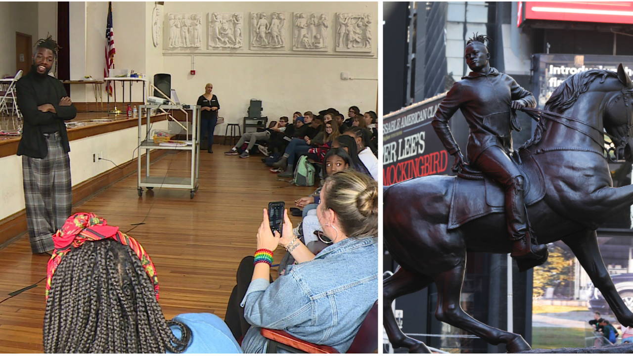 Muse who inspired 'Rumors of War' speaks to Richmondstudents