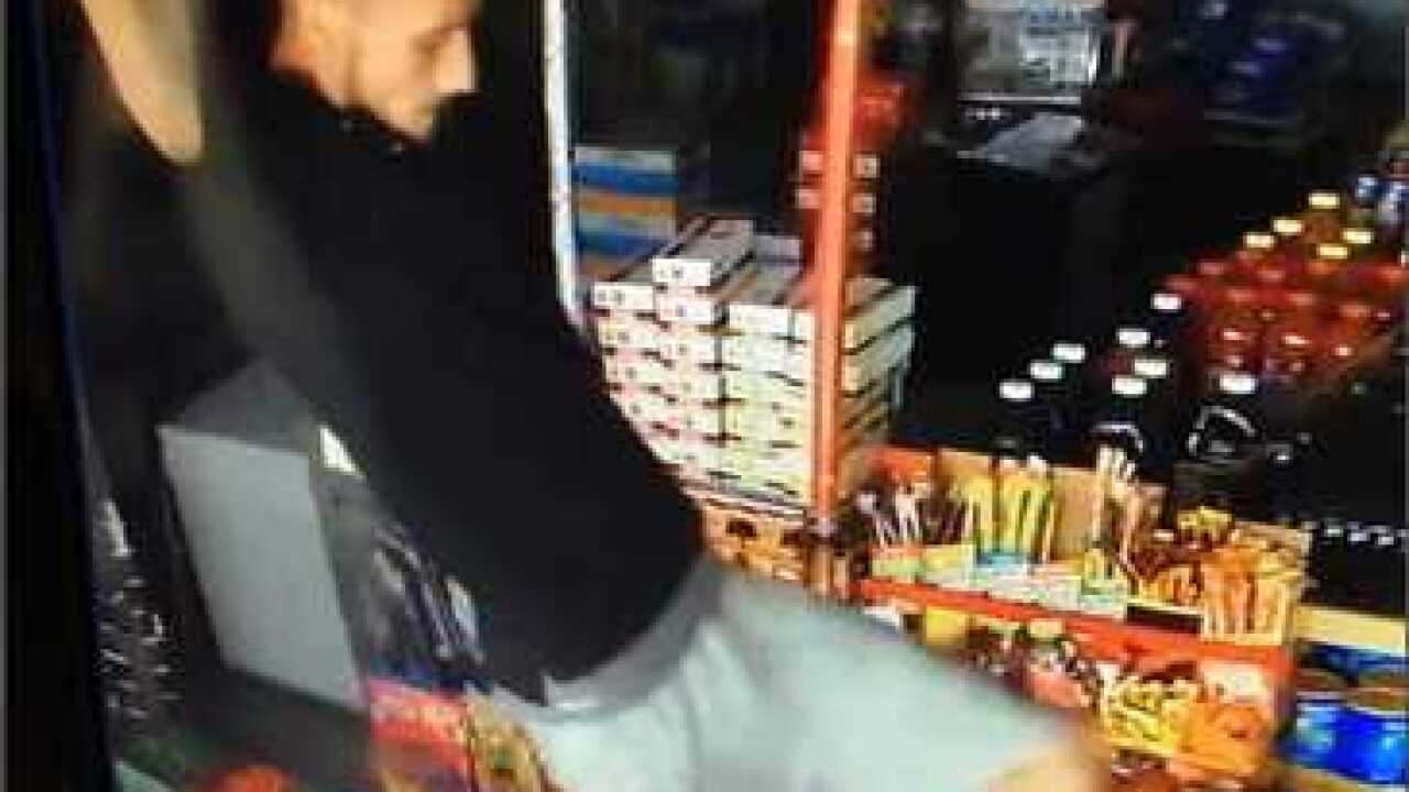Suspect drops in through roof in lottery theft