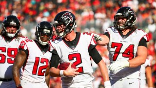 Matt Ryan celebrates TD catch