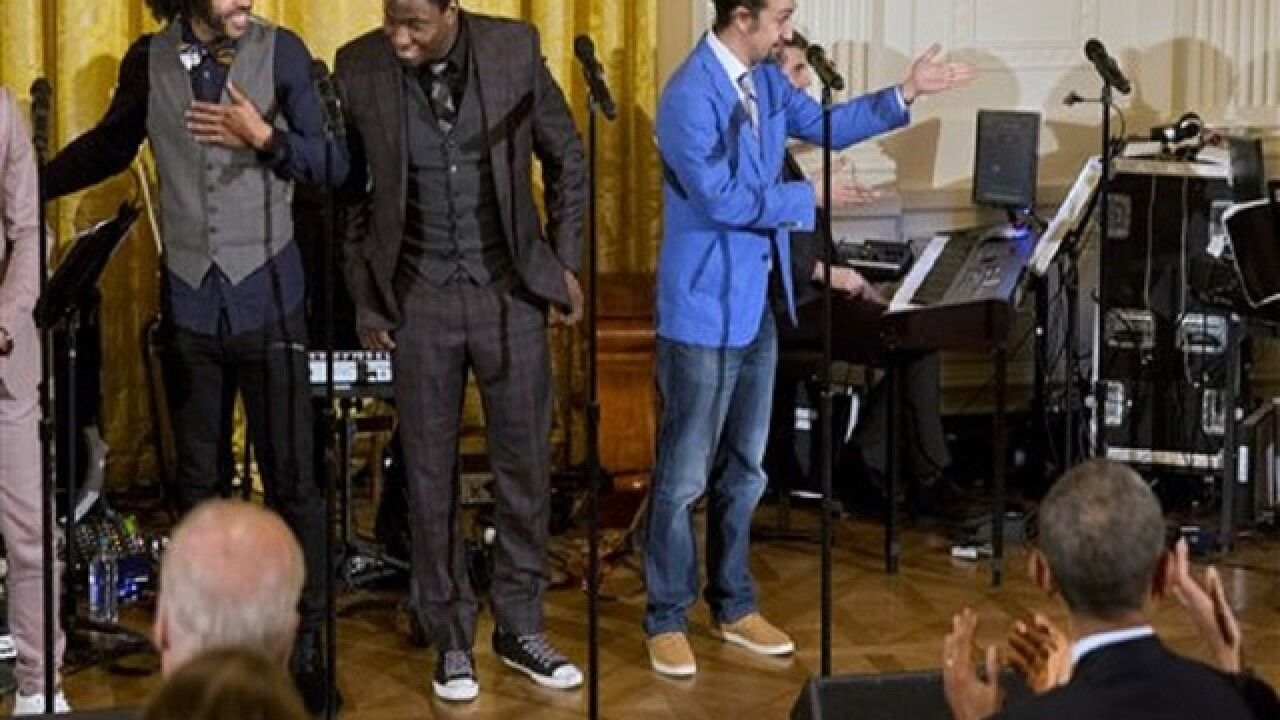 Cast of 'Hamilton' gets scrappy at White House