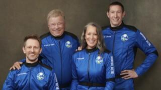 Blue Origin William Shatner Spaceflight crew